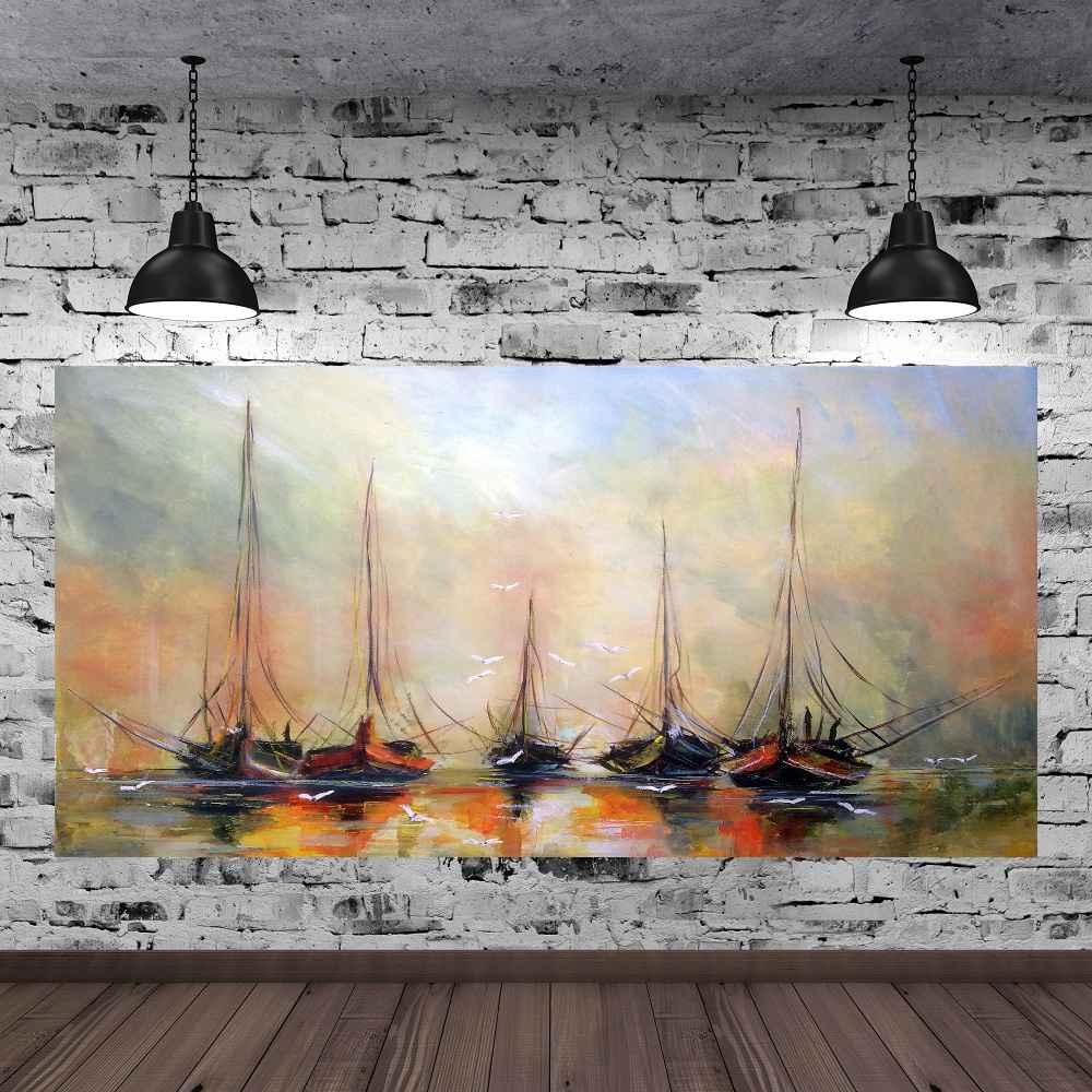 Quadro Pintura Tela Abstrato Moderno Cod 2431