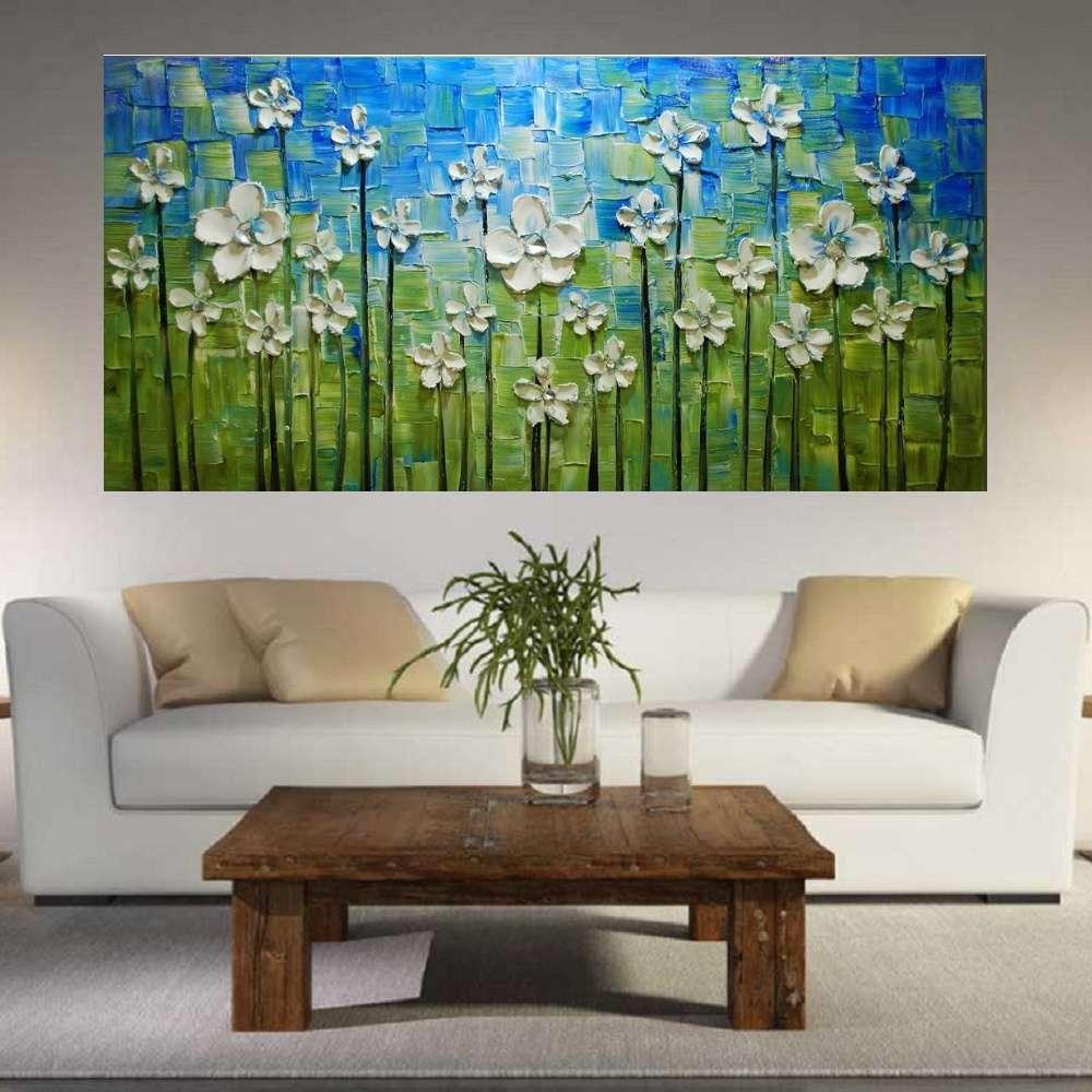 Quadro Pintura Tela Abstrato Moderno Cod 2446