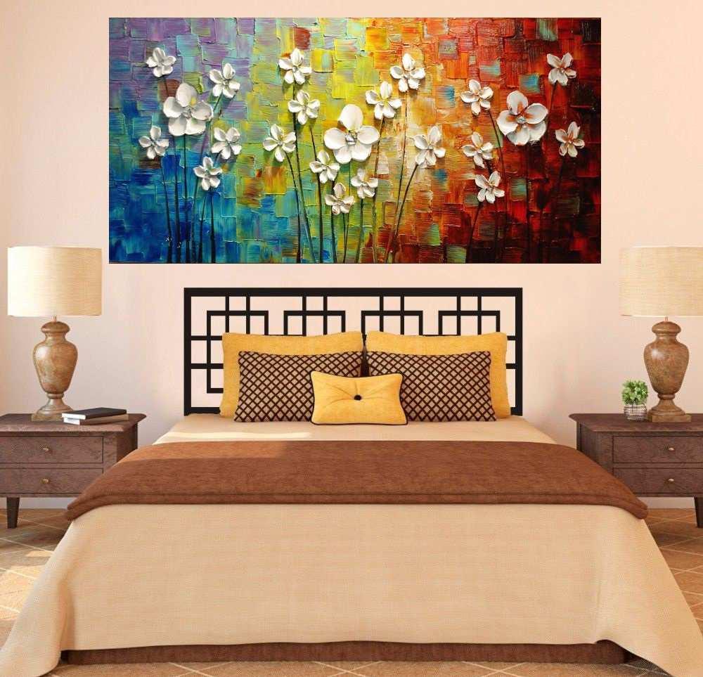 Quadro Pintura Tela Abstrato Moderno Cod 2447