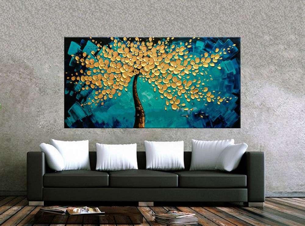 Quadro Pintura Tela Abstrato Moderno Cod 2452