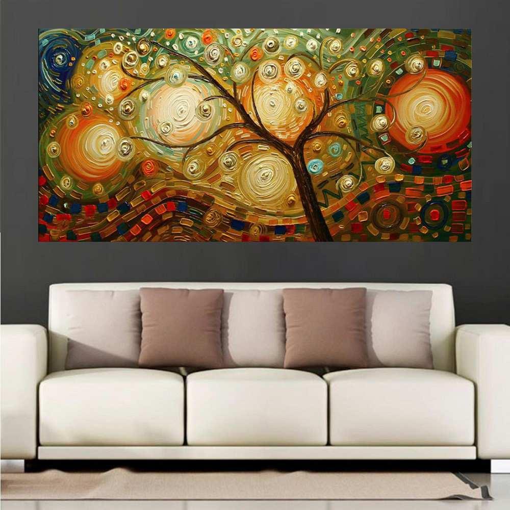 Quadro Pintura Tela Abstrato Moderno Cod 2453