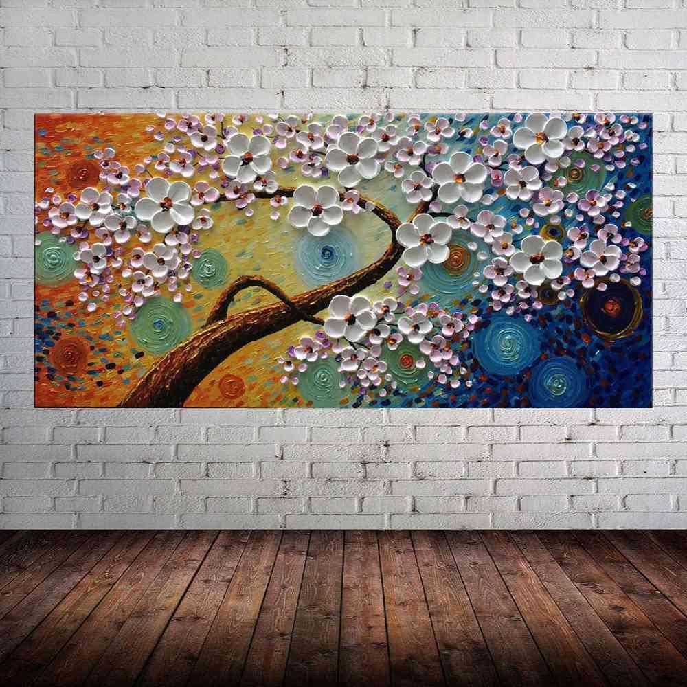 Quadro Pintura Tela Abstrato Moderno Cod 2454