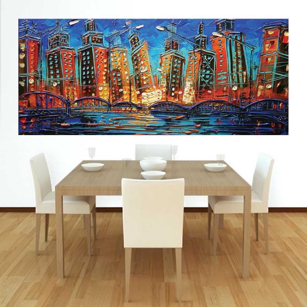Quadro Pintura Tela Abstrato Moderno Cod 2457