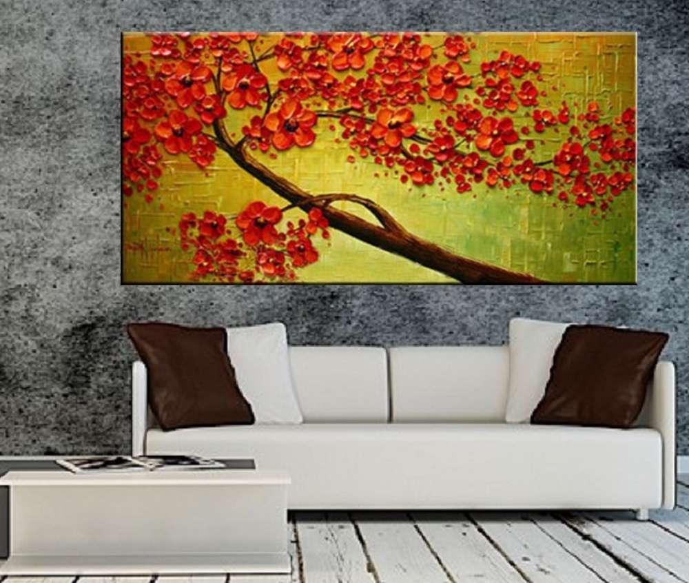 Quadro Pintura Tela Abstrato Moderno Cod 2459