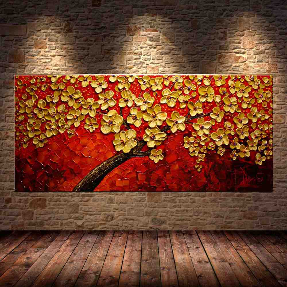 Quadro Pintura Tela Abstrato Moderno Cod 2463