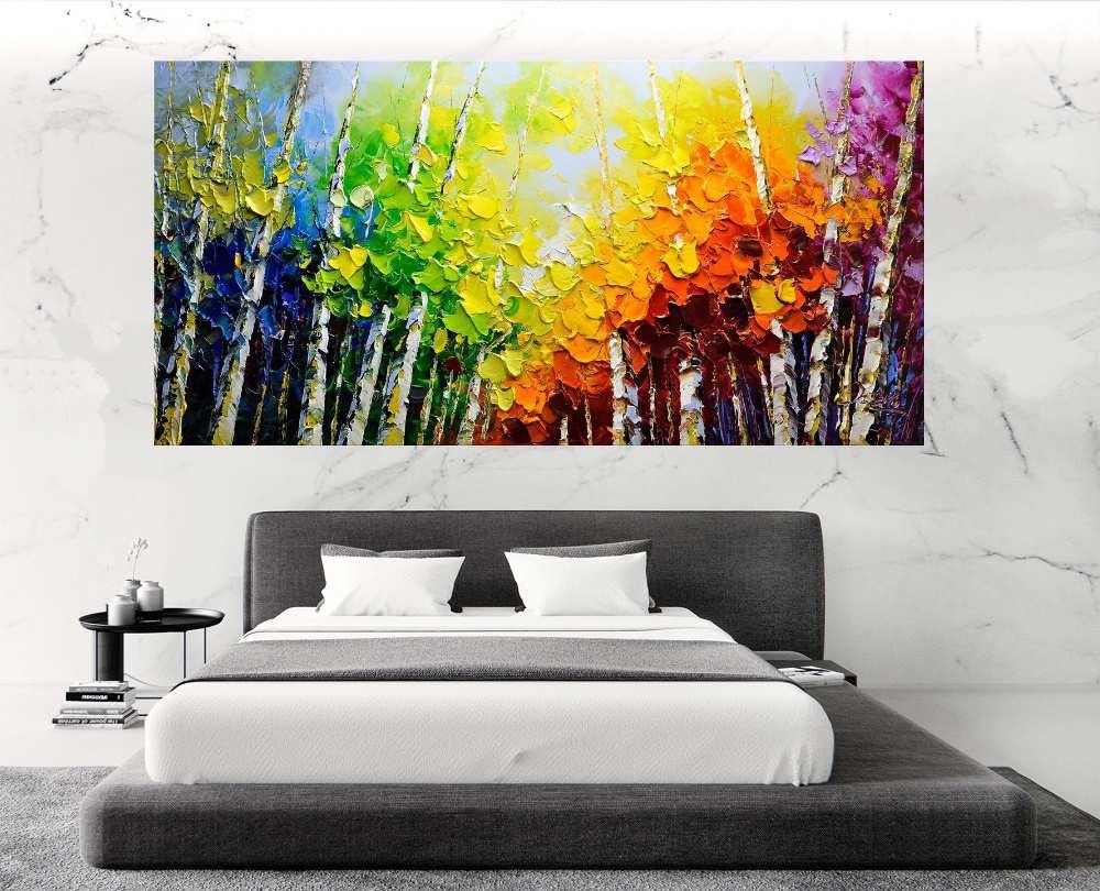 Quadro Pintura Tela Abstrato Moderno Cod 2466