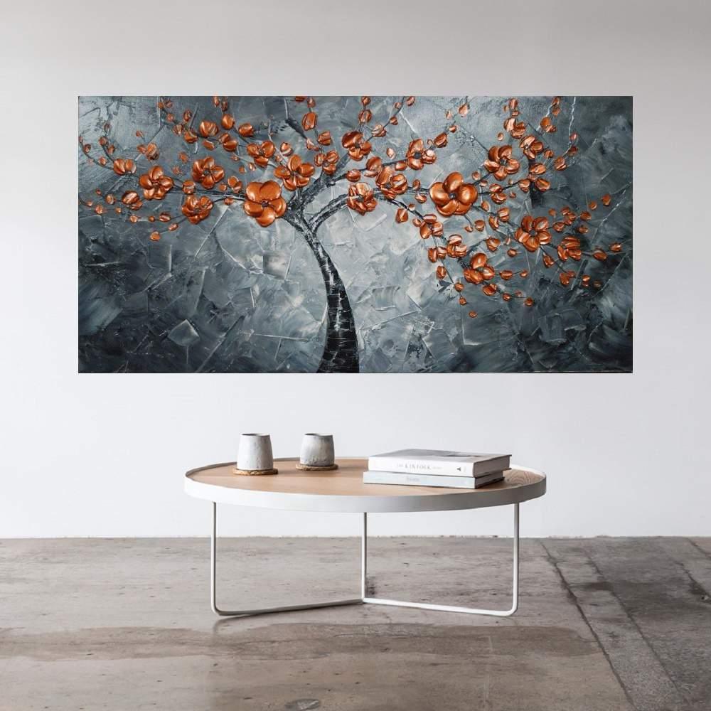 Quadro Pintura Tela Abstrato Moderno Cod 2467