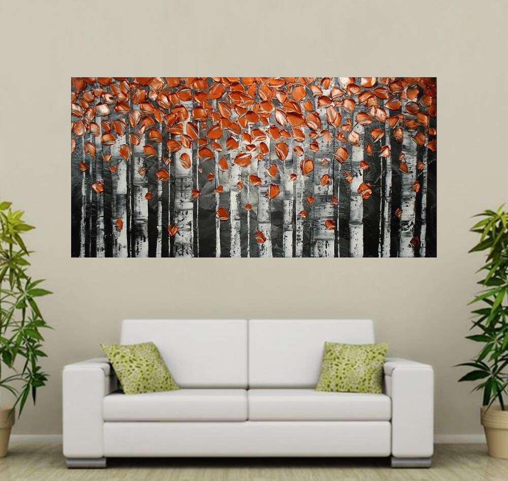 Quadro Pintura Tela Abstrato Moderno Cod 2468