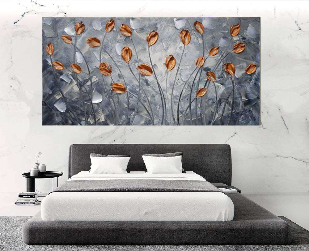 Quadro Pintura Tela Abstrato Moderno Cod 2469