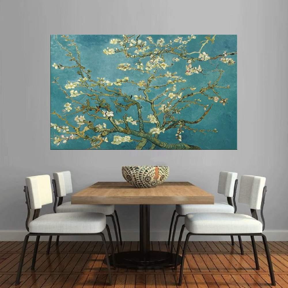 Quadro Pintura Tela Arvores e Flores Modernas Em Altos Relevos Cod 2060