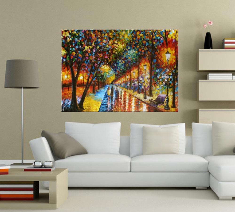 Quadro Pintura Tela Cidade Paisagem Urbana Cod 2043
