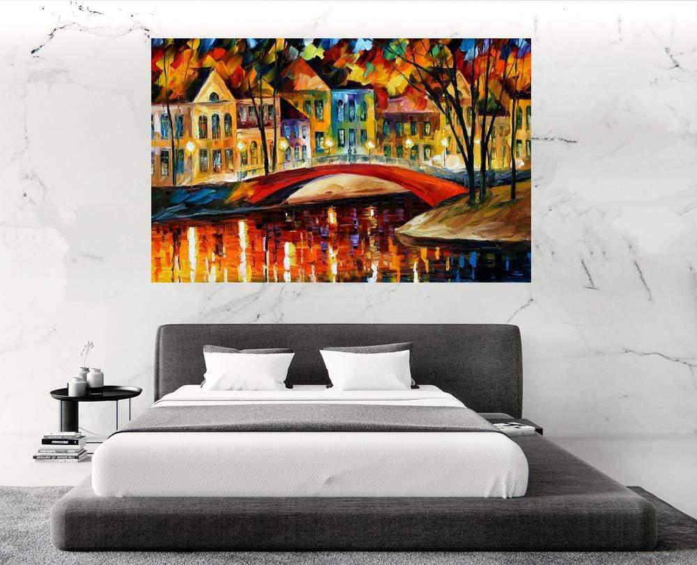 Quadro Pintura Tela Cidade Paisagem Urbana Cod 4002
