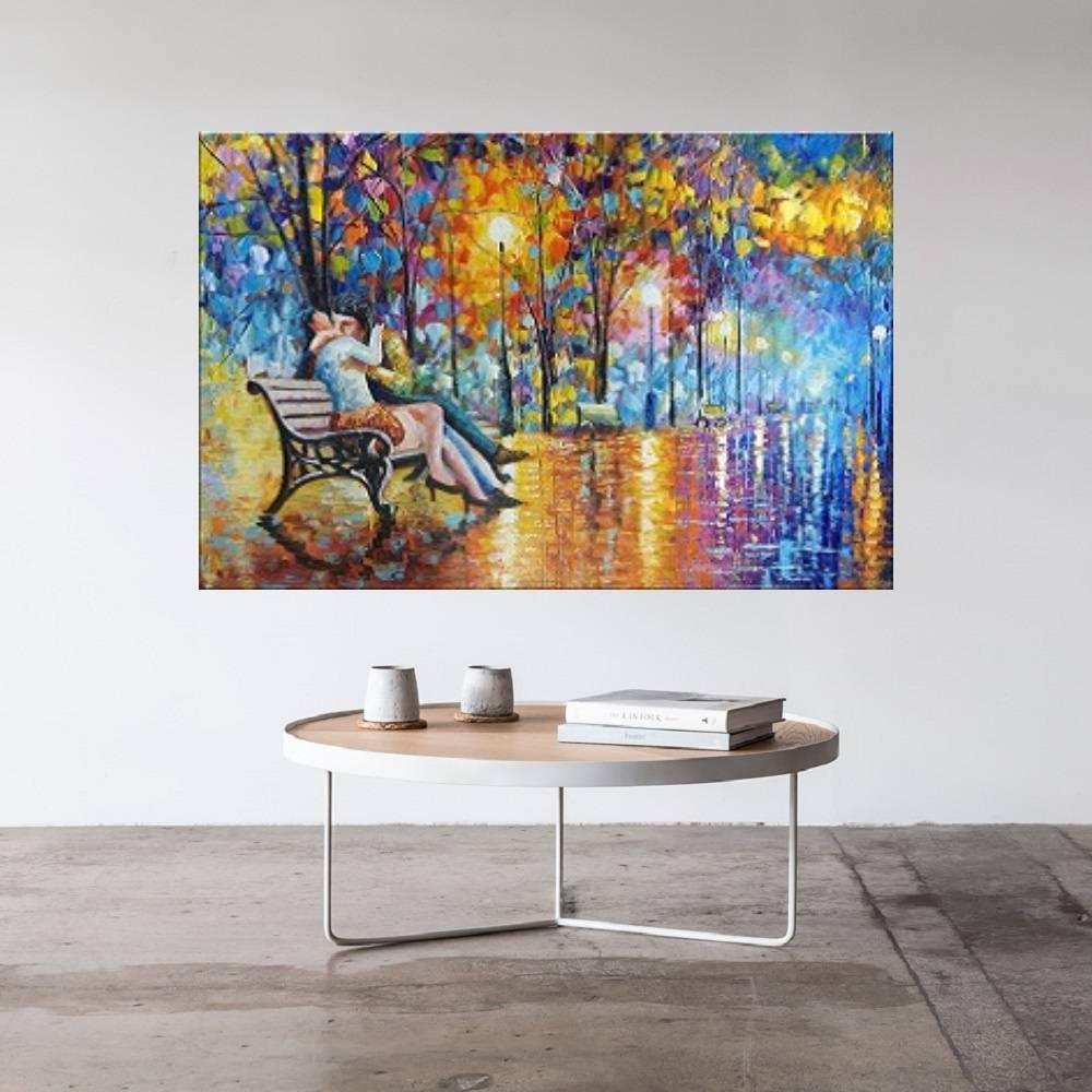Quadro Pintura Tela Cidade Paisagem Urbana Cod 4003