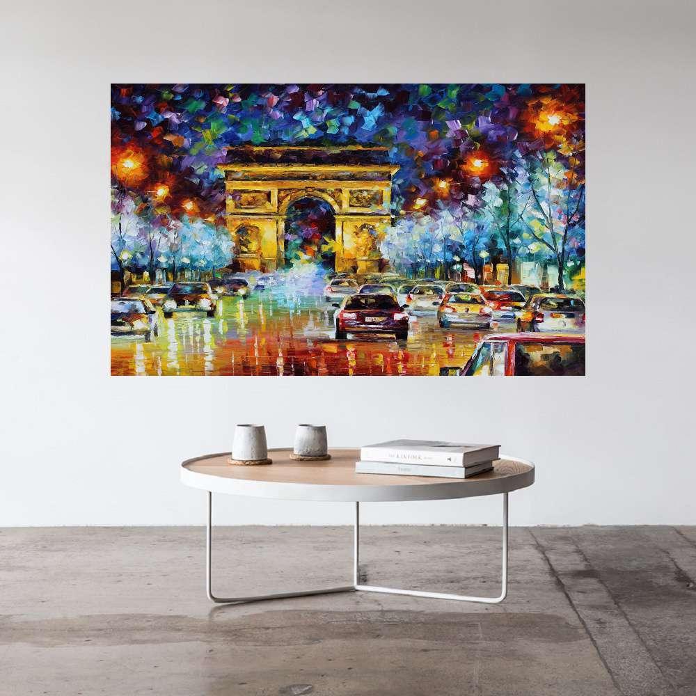 Quadro Pintura Tela Cidade Paisagem Urbana Cod 4004