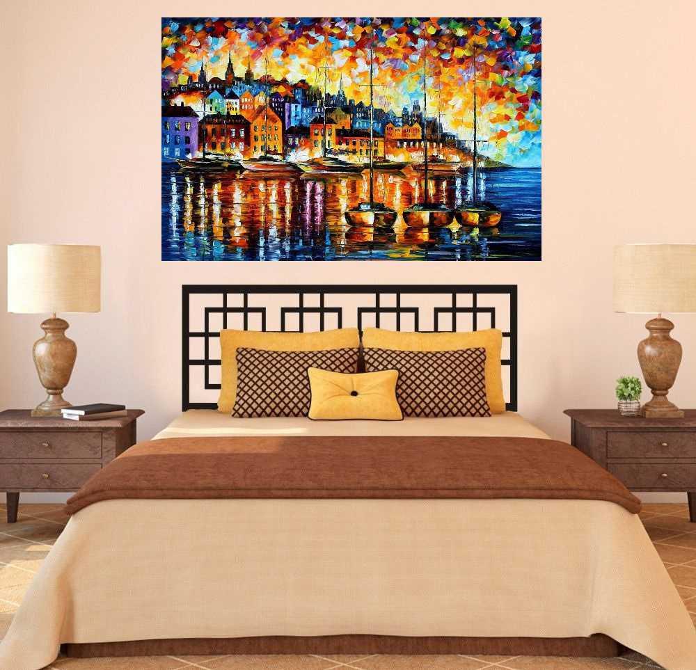 Quadro Pintura Tela Cidade Paisagem Urbana Cod 4005