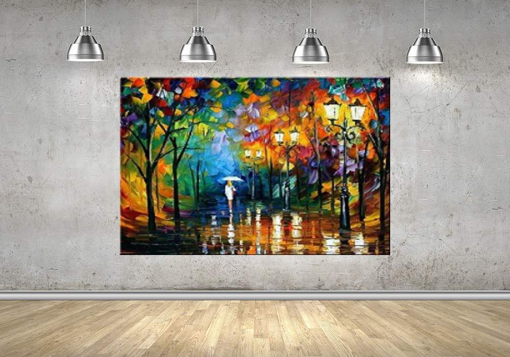 Quadro Pintura Tela Cidade Paisagem Urbana Cod 4008