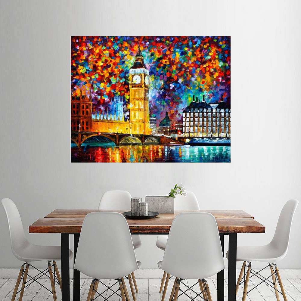 Quadro Pintura Tela Cidade Paisagem Urbana Cod 4009