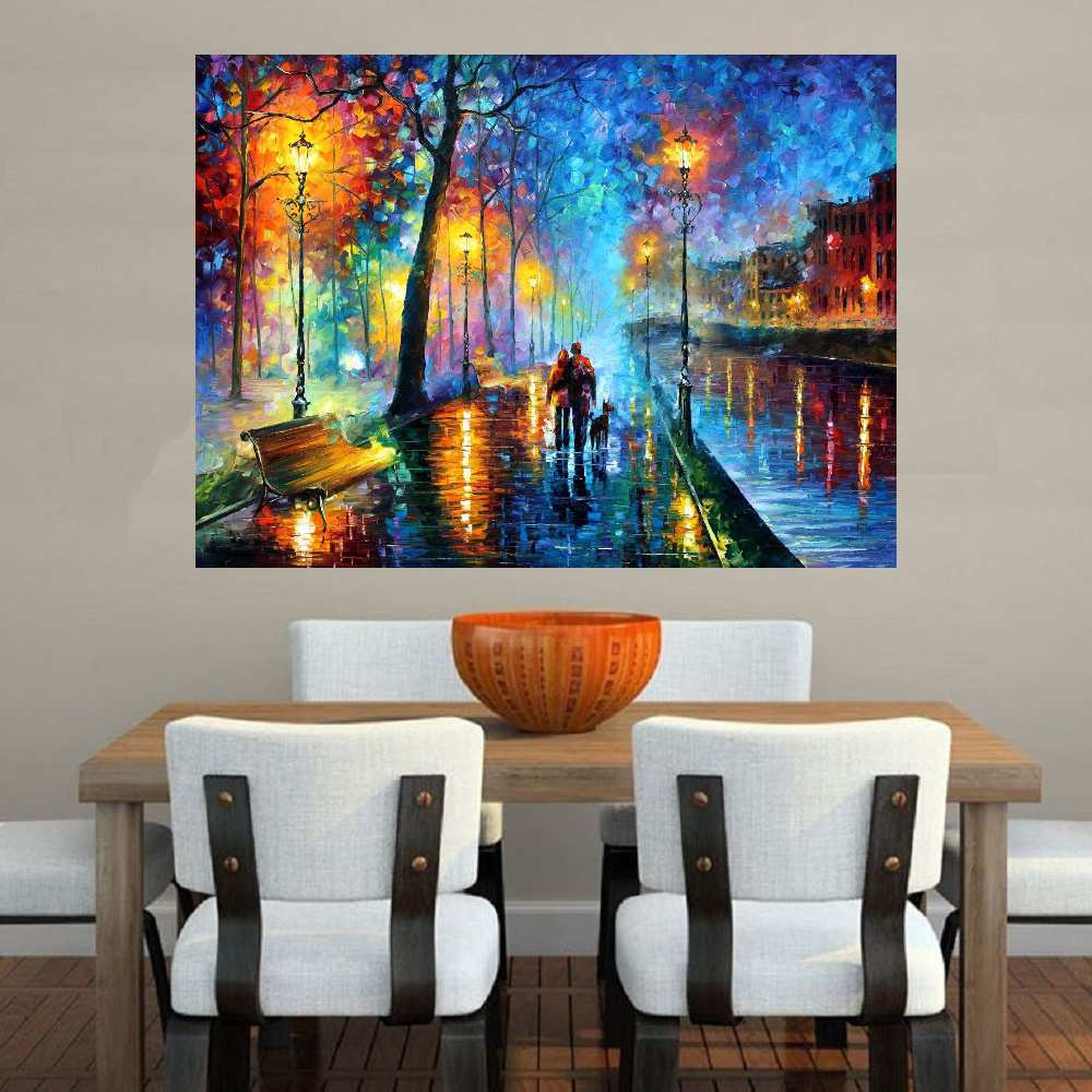Quadro Pintura Tela Cidade Paisagem Urbana Cod 4016