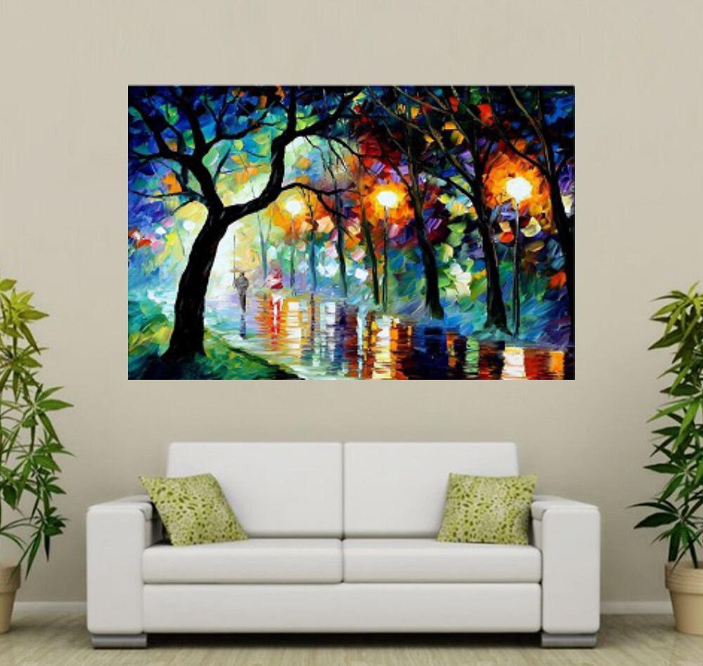 Quadro Pintura Tela Cidade Paisagem Urbana Cod 4019