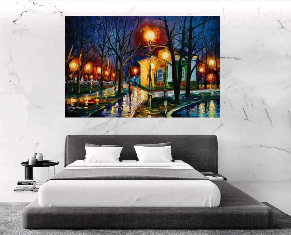 Quadro Pintura Tela Cidade Paisagem Urbana Cod 4020