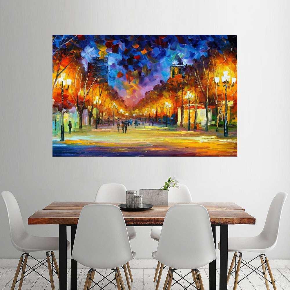 Quadro Pintura Tela Cidade Paisagem Urbana Cod 4023
