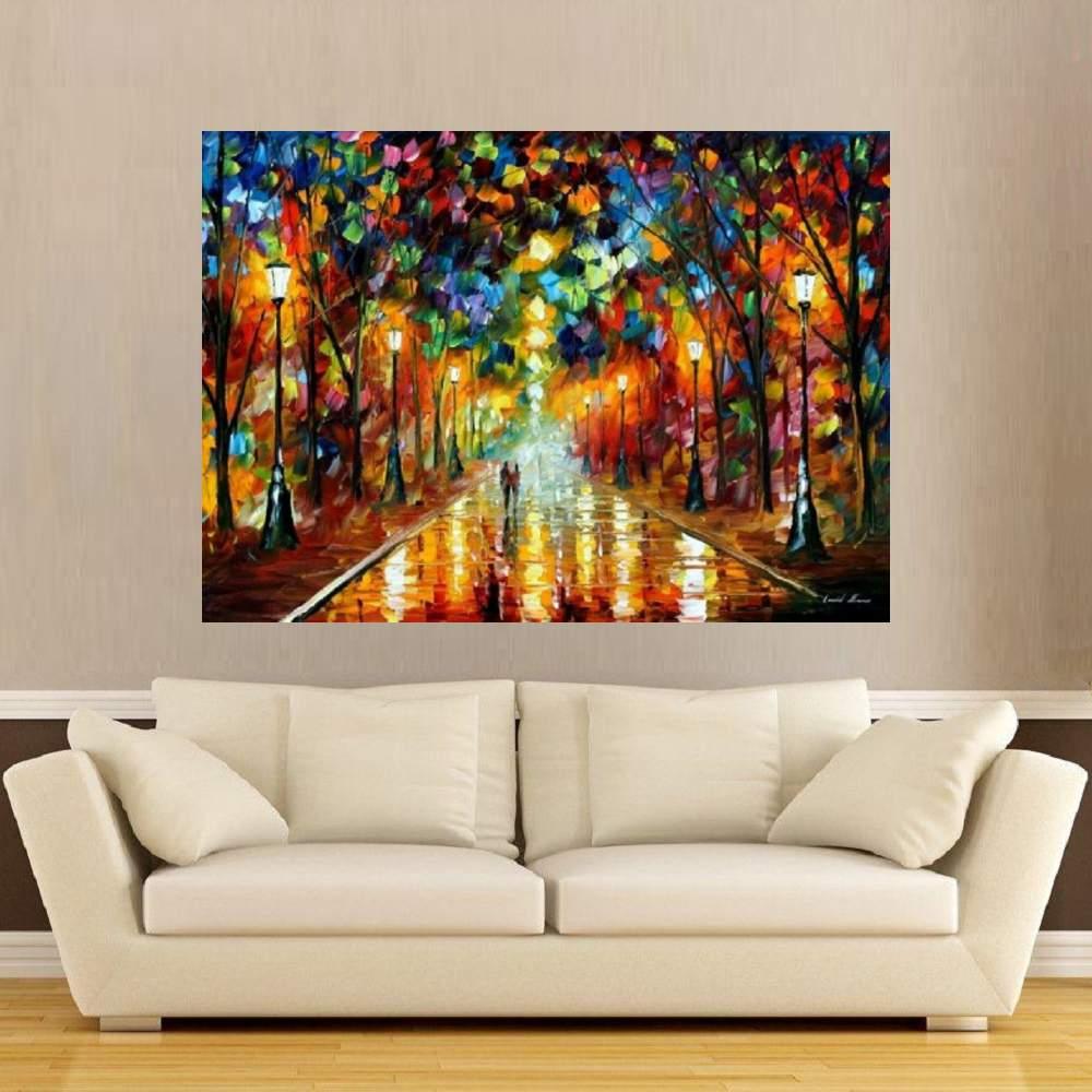 Quadro Pintura Tela Cidade Paisagem Urbana Cod 4024