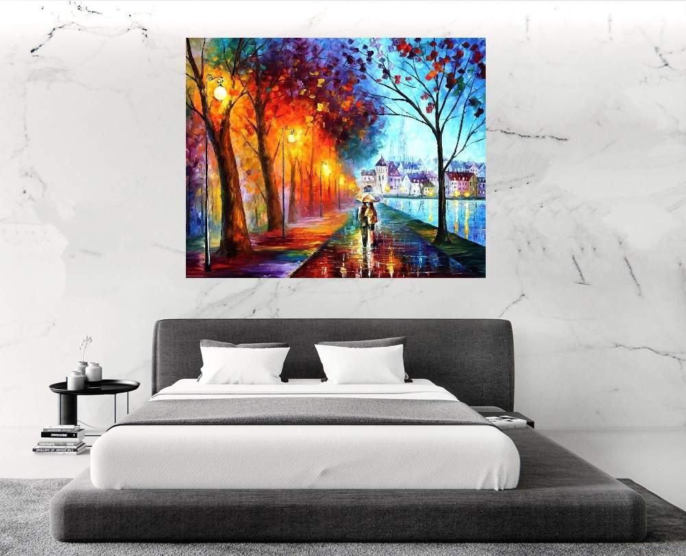 Quadro Pintura Tela Cidade Paisagem Urbana Cod 4026