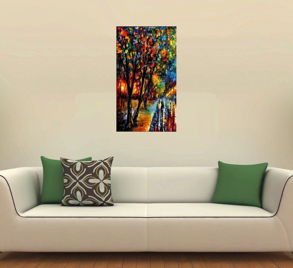 Quadro Pintura Tela Cidade Paisagem Urbana Cod 4302