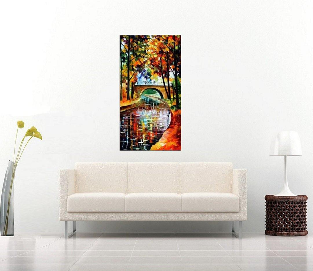Quadro Pintura Tela Cidade Paisagem Urbana Cod 4304