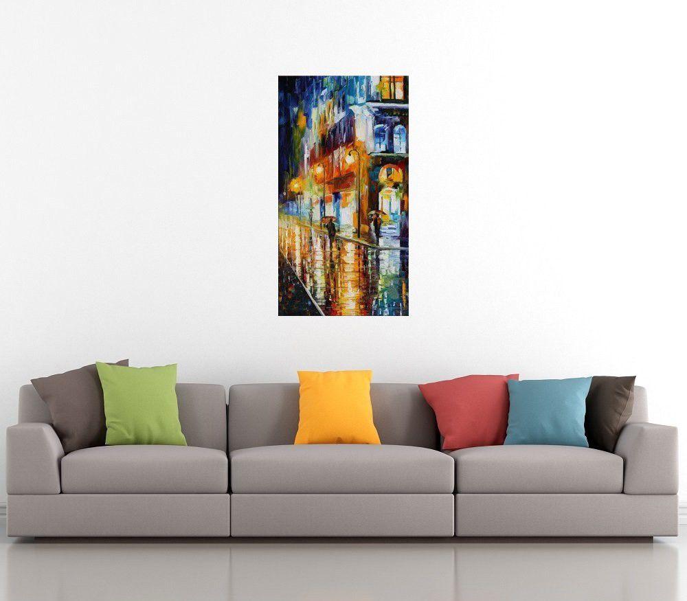 Quadro Pintura Tela Cidade Paisagem Urbana Cod 4307
