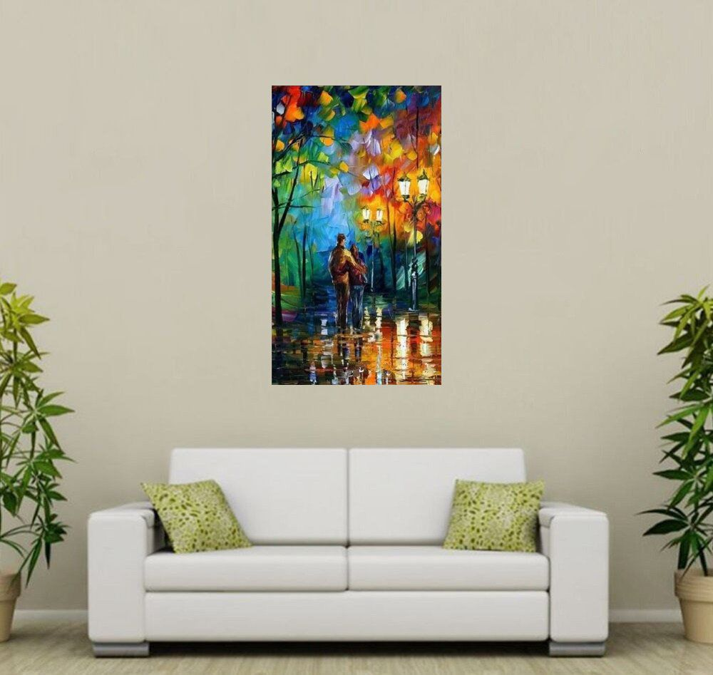 Quadro Pintura Tela Cidade Paisagem Urbana Cod 4308