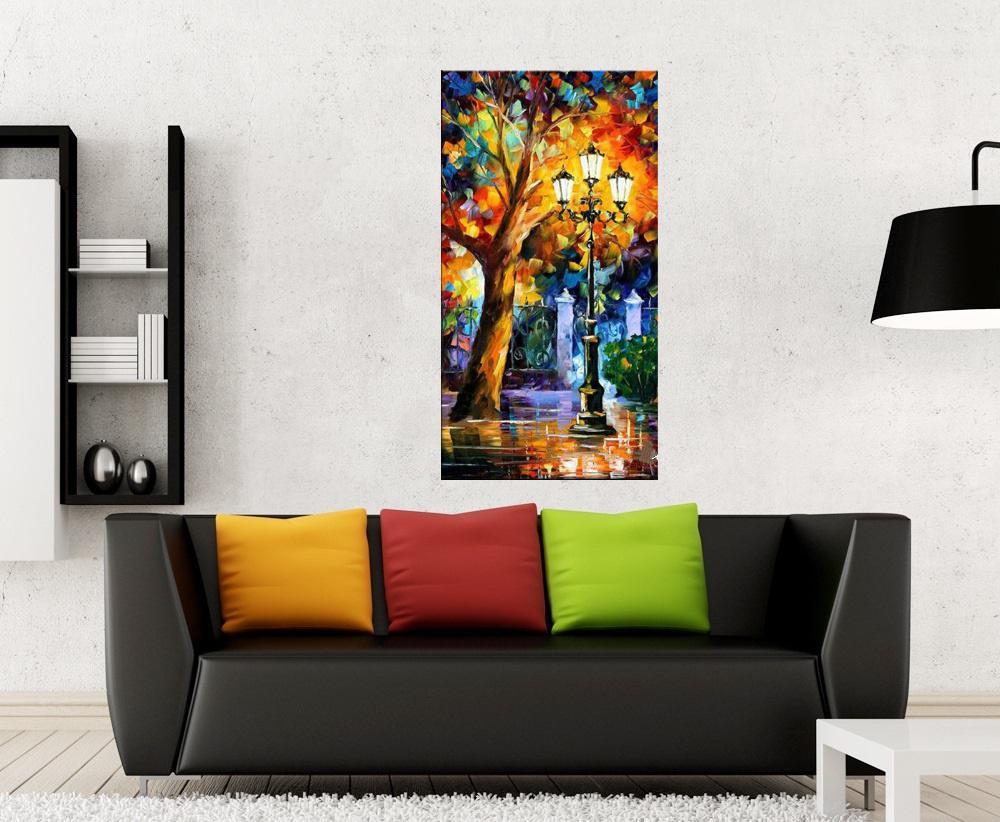 Quadro Pintura Tela Cidade Paisagem Urbana Cod 4309