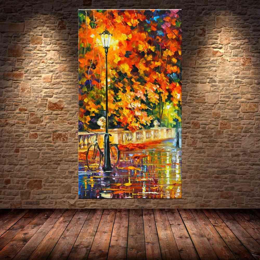 Quadro Pintura Tela Cidade Paisagem Urbana Cod 4313