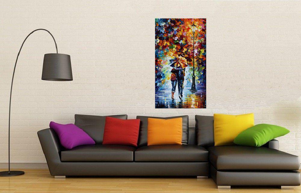 Quadro Pintura Tela Cidade Paisagem Urbana Cod 4316