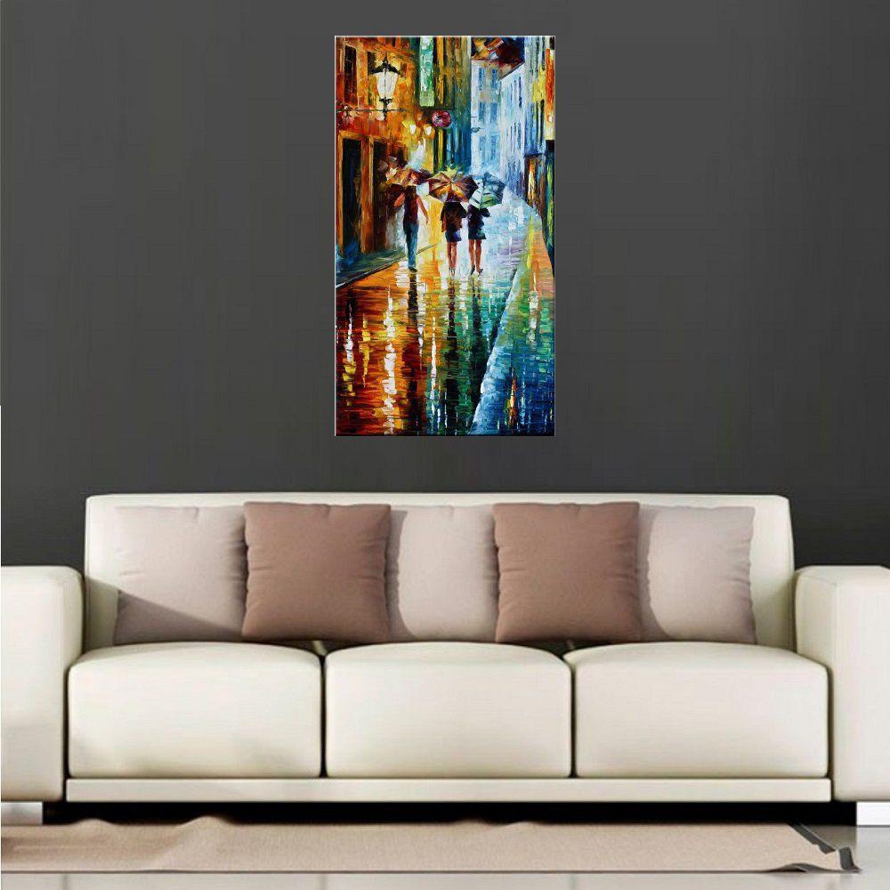 Quadro Pintura Tela Cidade Paisagem Urbana Cod 4317