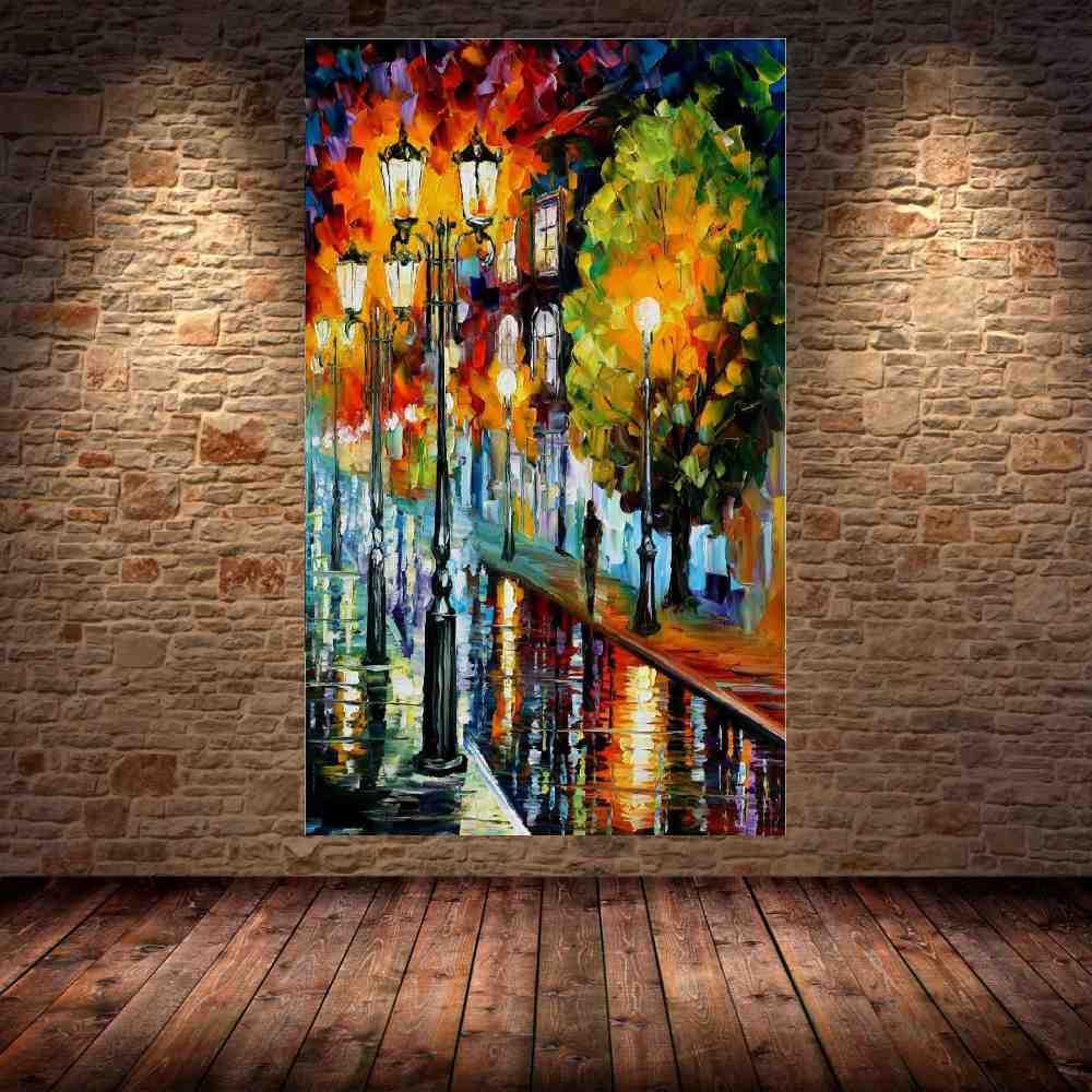 Quadro Pintura Tela Cidade Paisagem Urbana Cod 4320