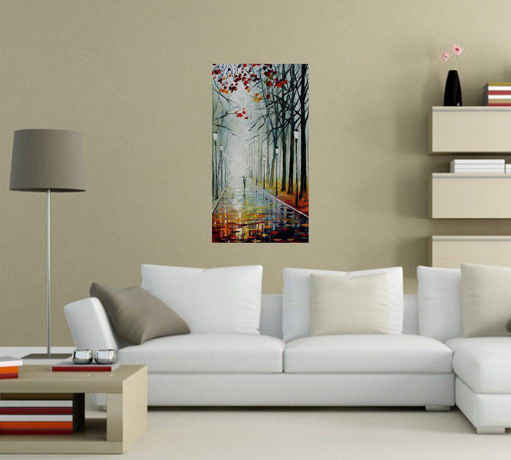 Quadro Pintura Tela Cidade Paisagem Urbana Cod 4325