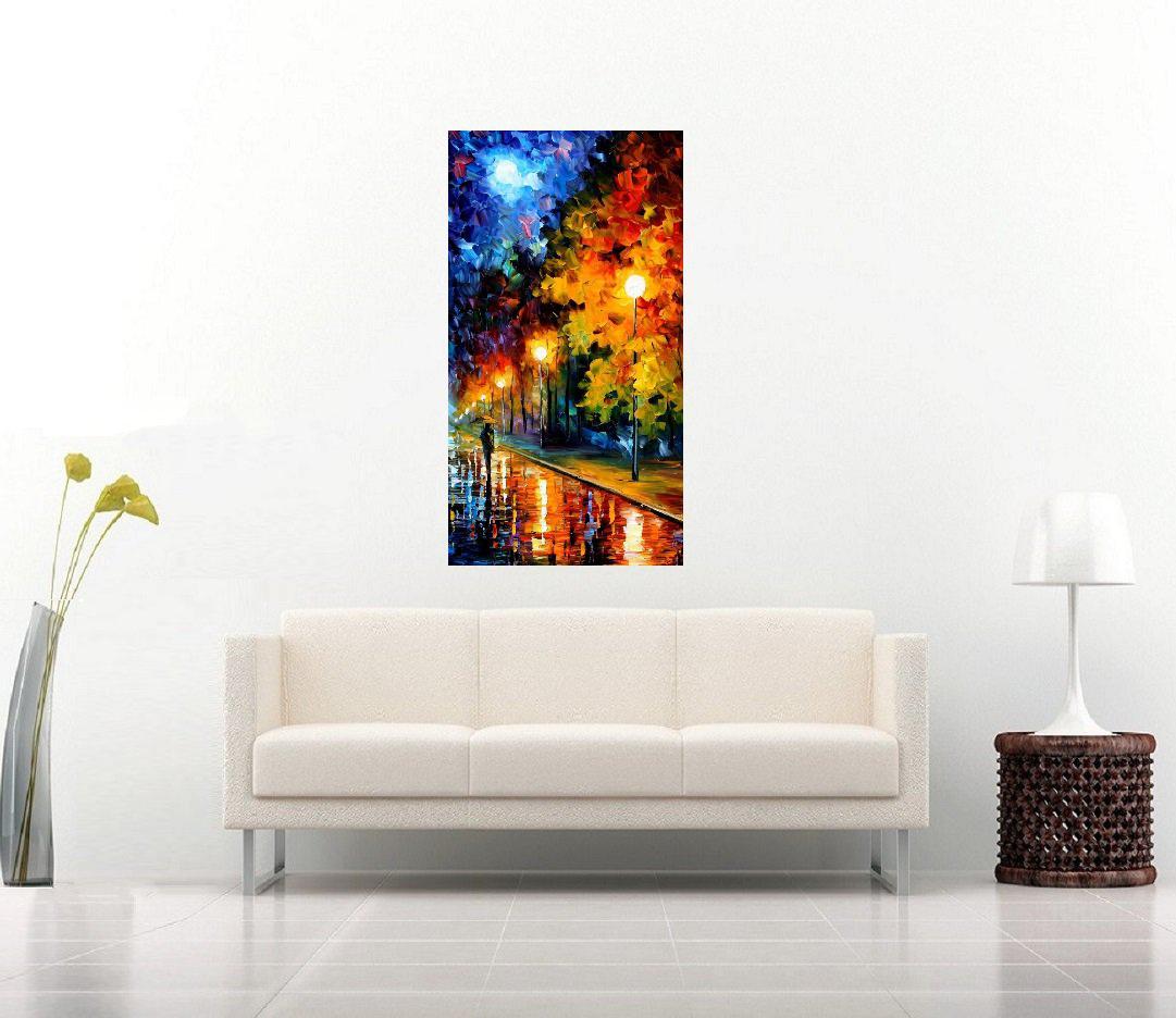 Quadro Pintura Tela Cidade Paisagem Urbana Cod 4326