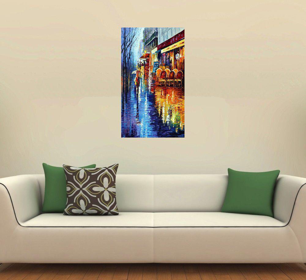 Quadro Pintura Tela Cidade Paisagem Urbana Cod 4327