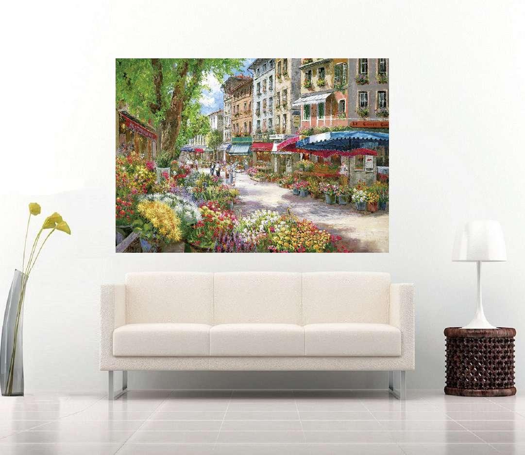 Quadro Pintura Tela Cidade Paisagem Urbana Cod 4501