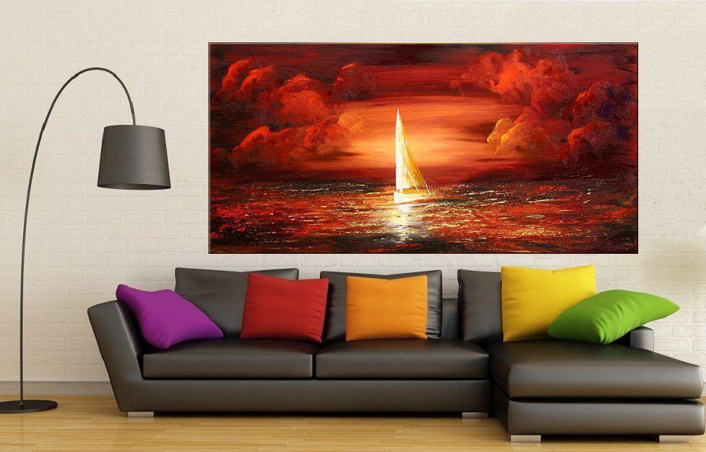 Quadro Pintura Tela Moderna Marinas Cod 2022