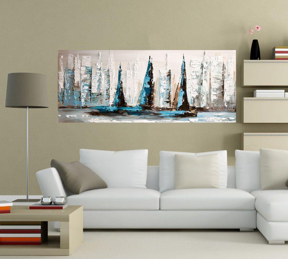Quadro Pintura Tela Moderna Marinas Cod 2189
