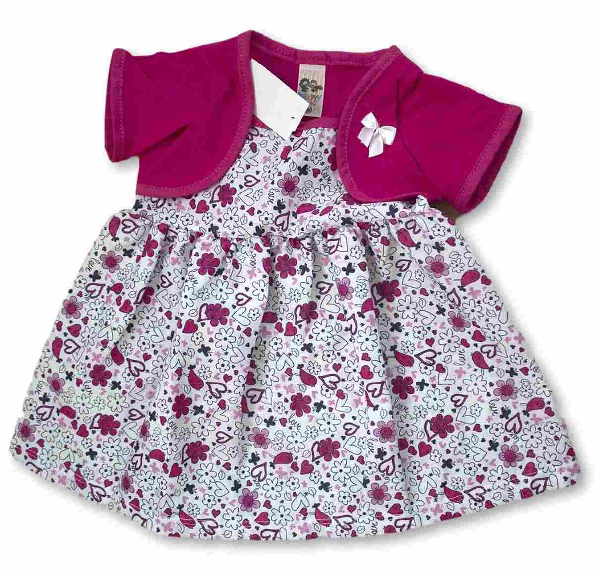 Vestido Bebê Recém Nascido Feminino Menina Cod 9054