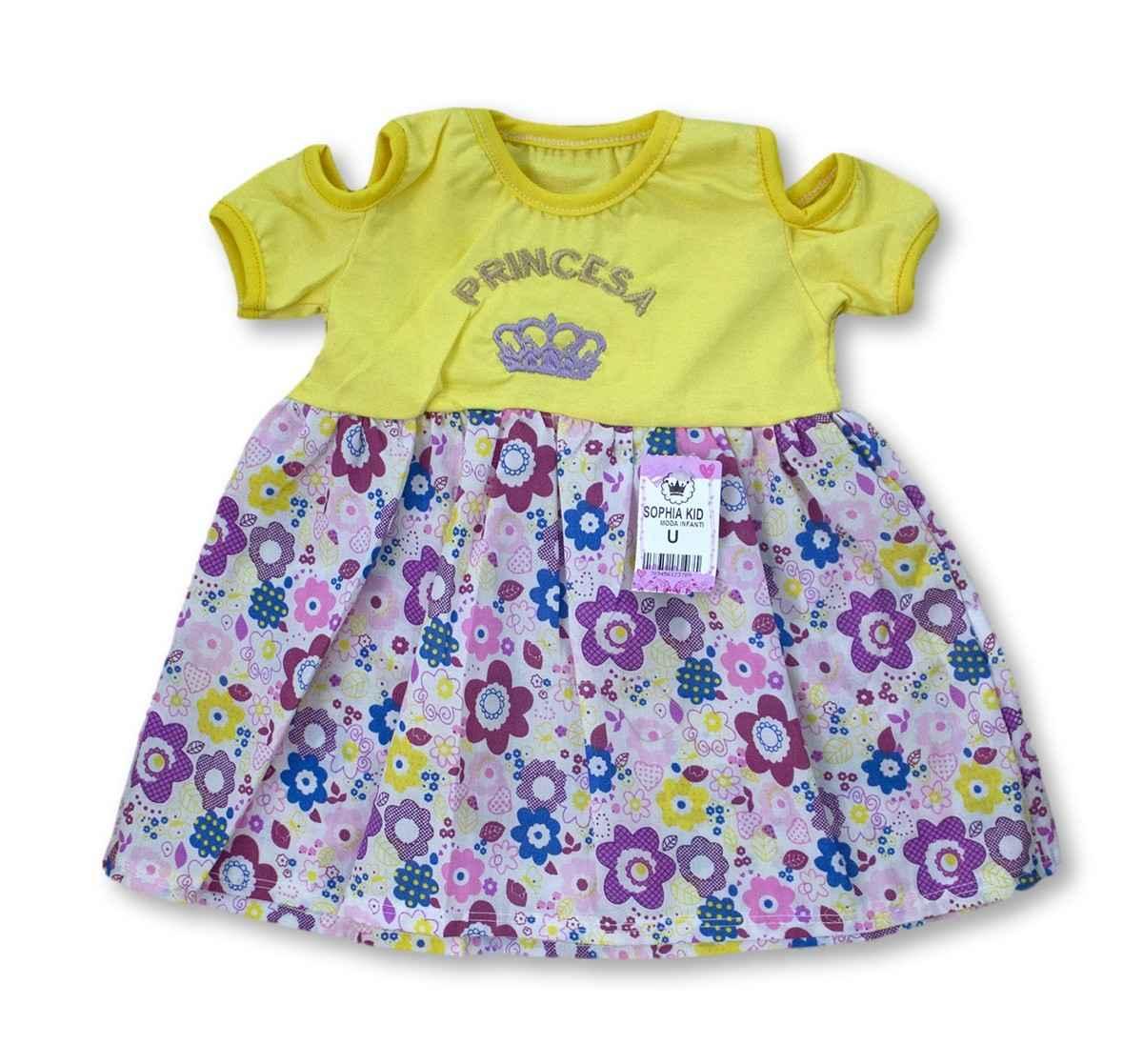 Vestido Bebê Recém Nascido Feminino Menina Cod 9057