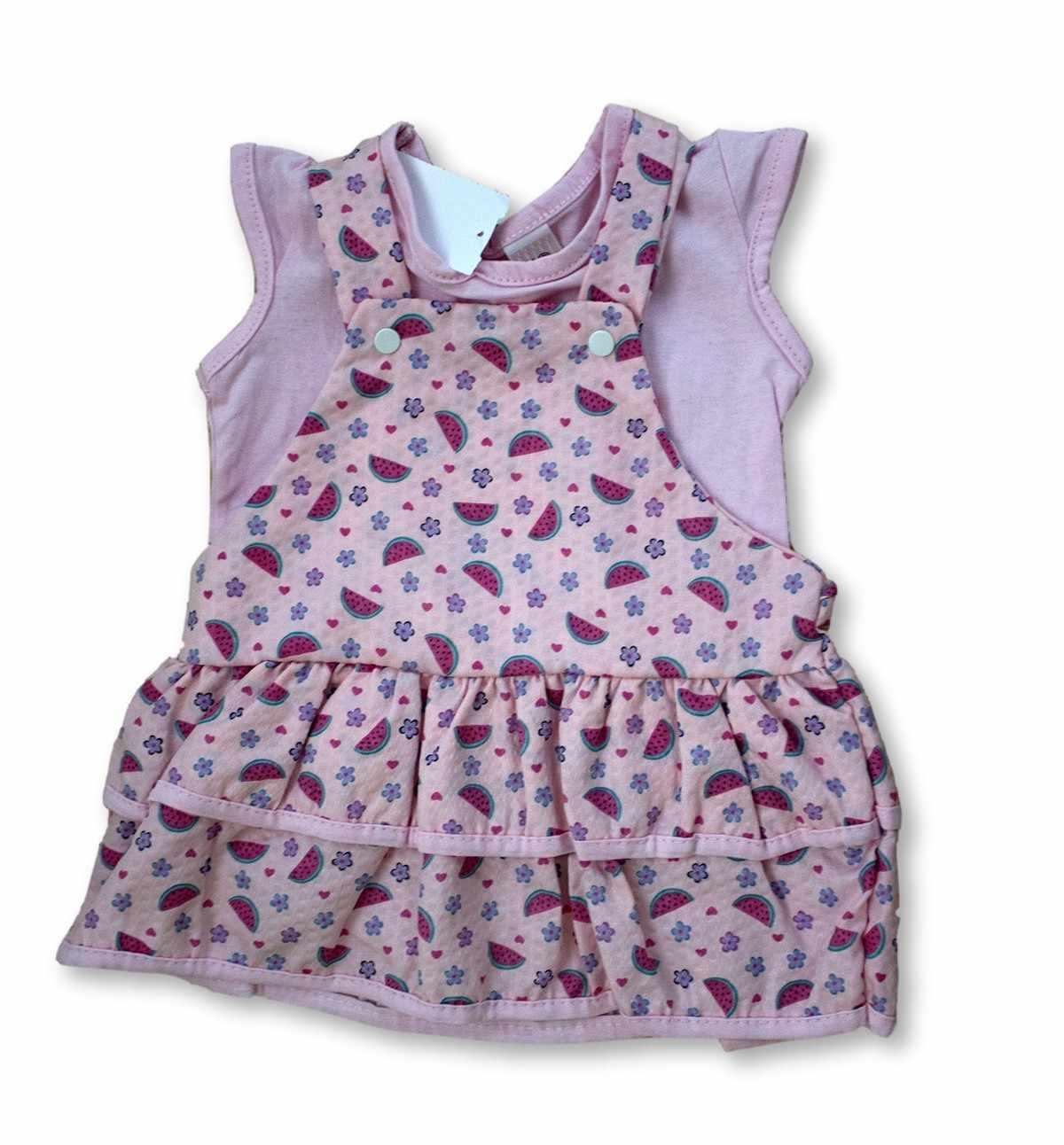 Vestido Bebê Recém Nascido Feminino Menina Cod 9060