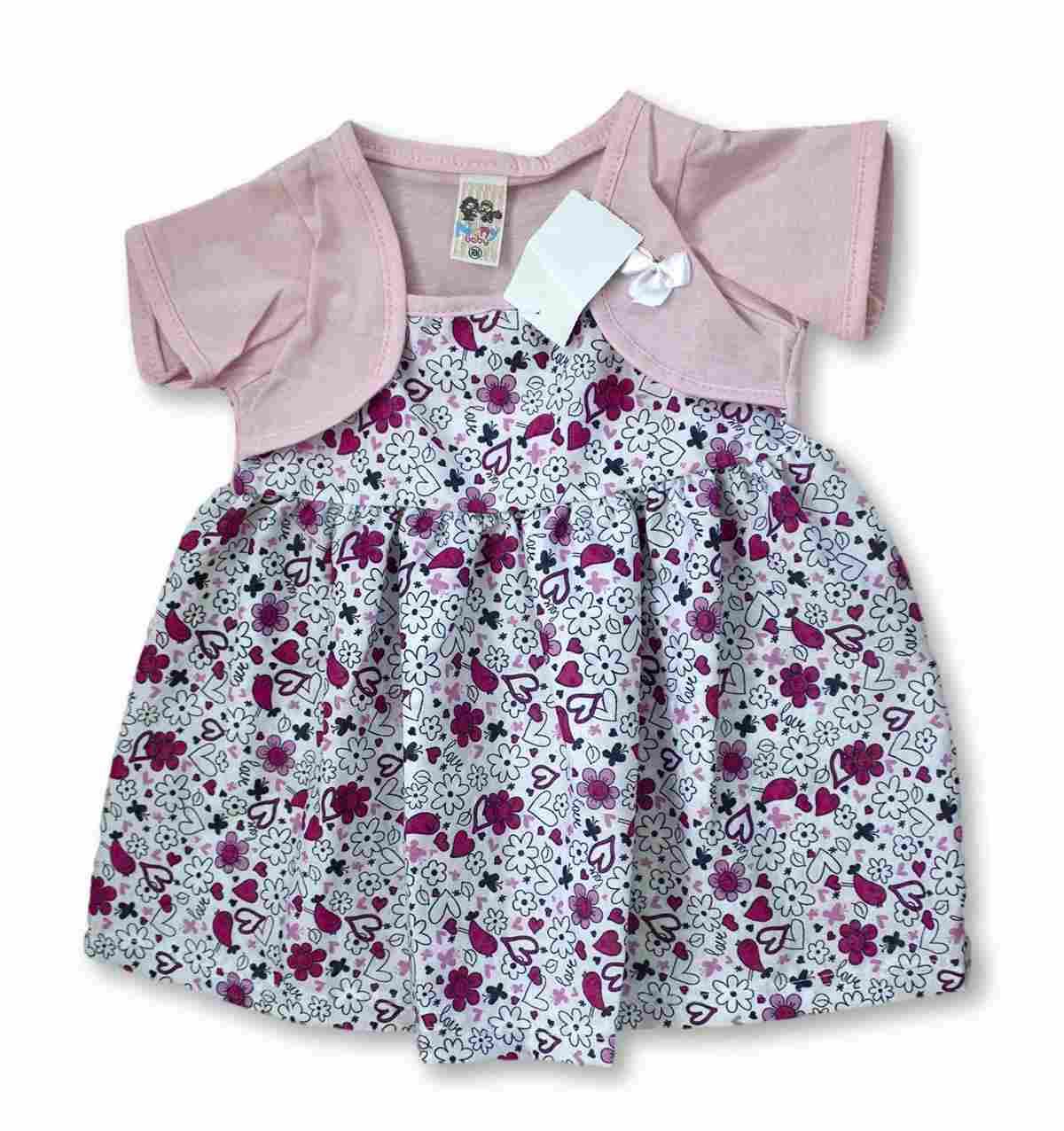 Vestido Bebê Recém Nascido Feminino Menina Cod 9062