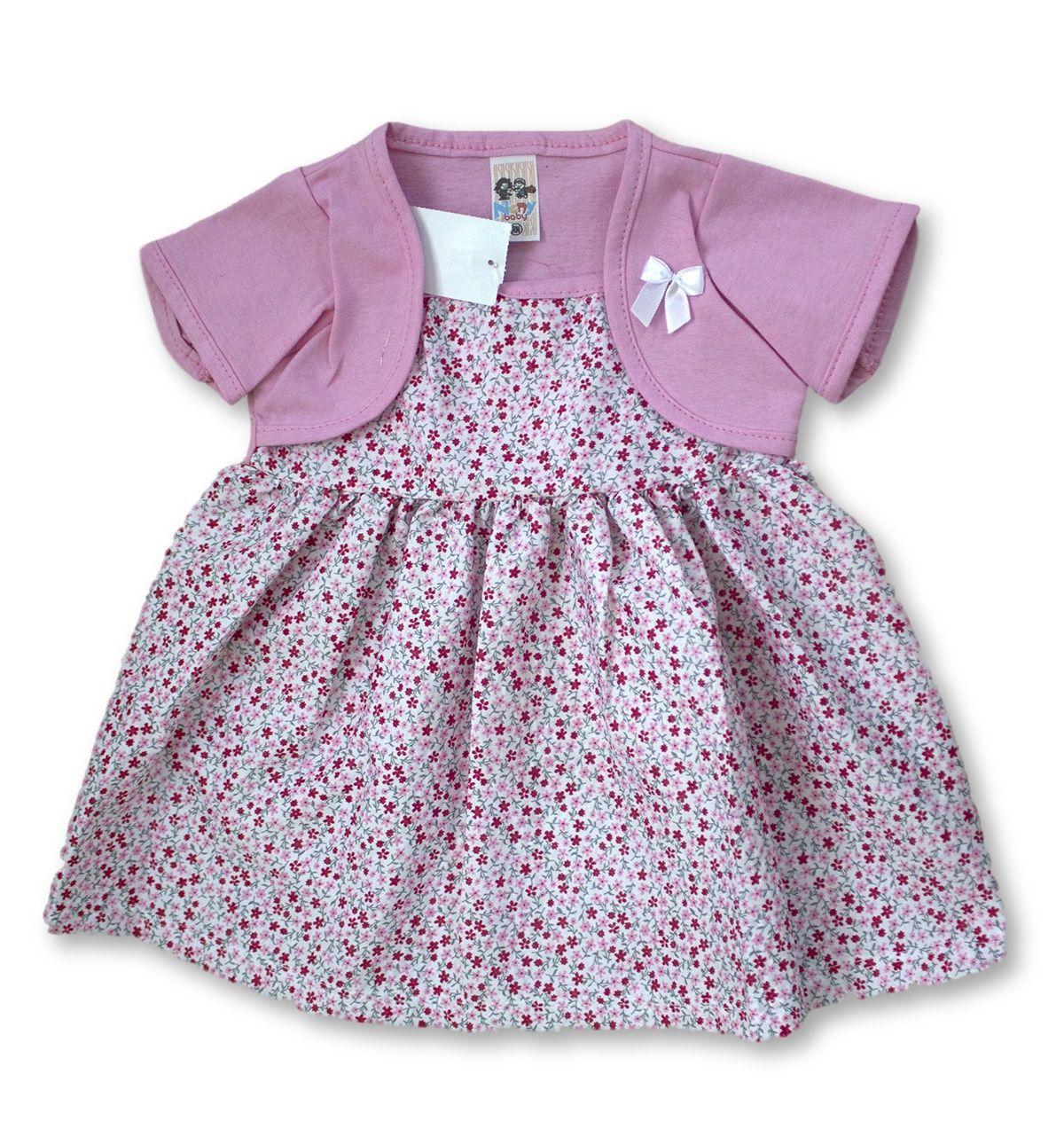 Vestido Bebê Recém Nascido Feminino Menina Cod 9064