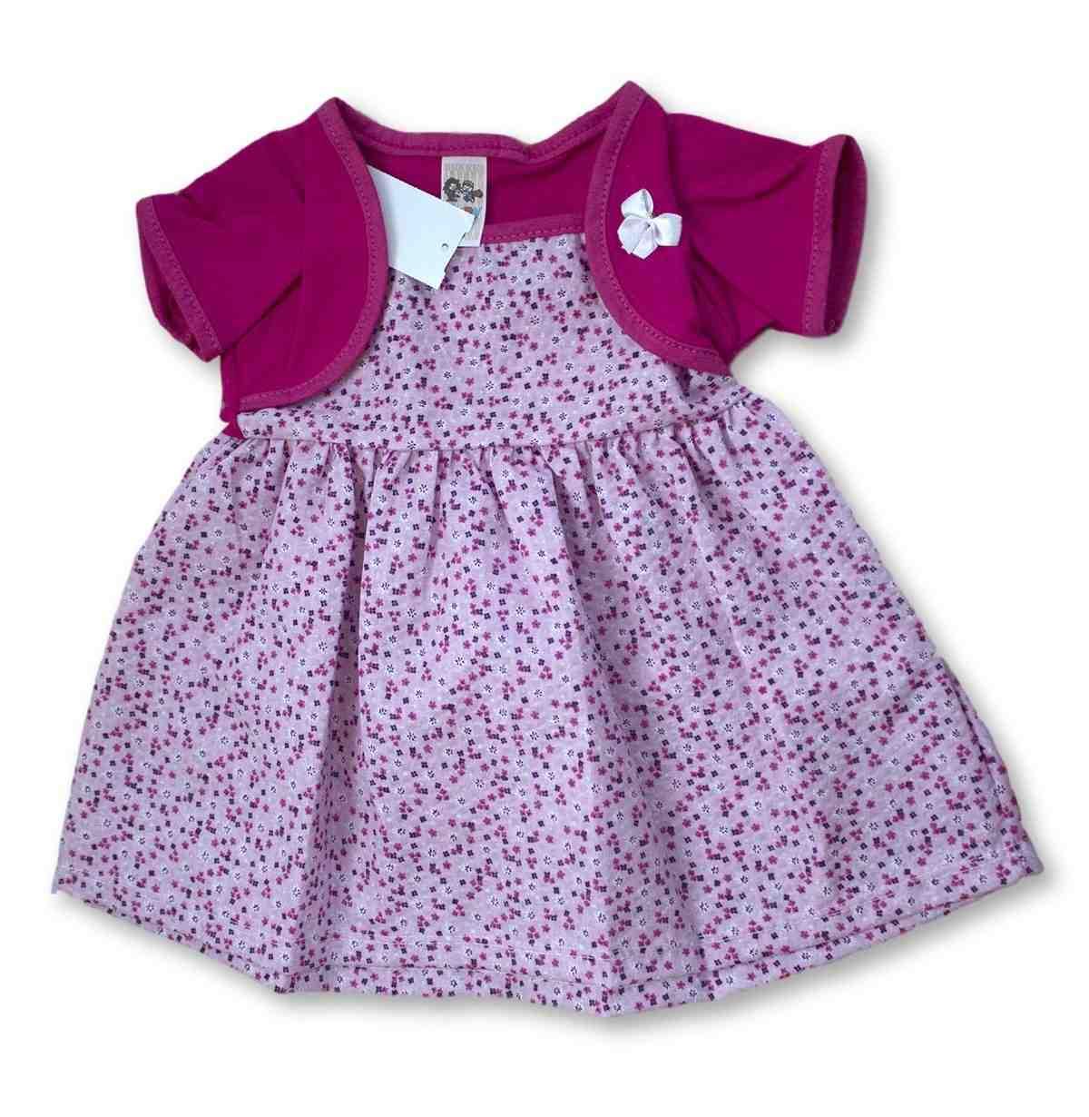 Vestido Bebê Recém Nascido Feminino Menina Cod 9065