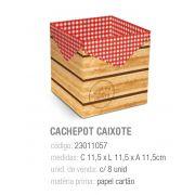 CACHEPOT CAIXOTE FAZENDINHA 11,5x11,5x11,5 PCT C/8 UNIDADES