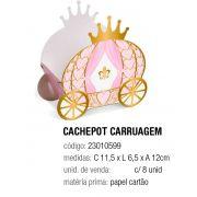 CACHEPOT CARRUAGEM REINADO DA PRINCESA 11,5x6,5x12 PCT C/8 UNIDADES